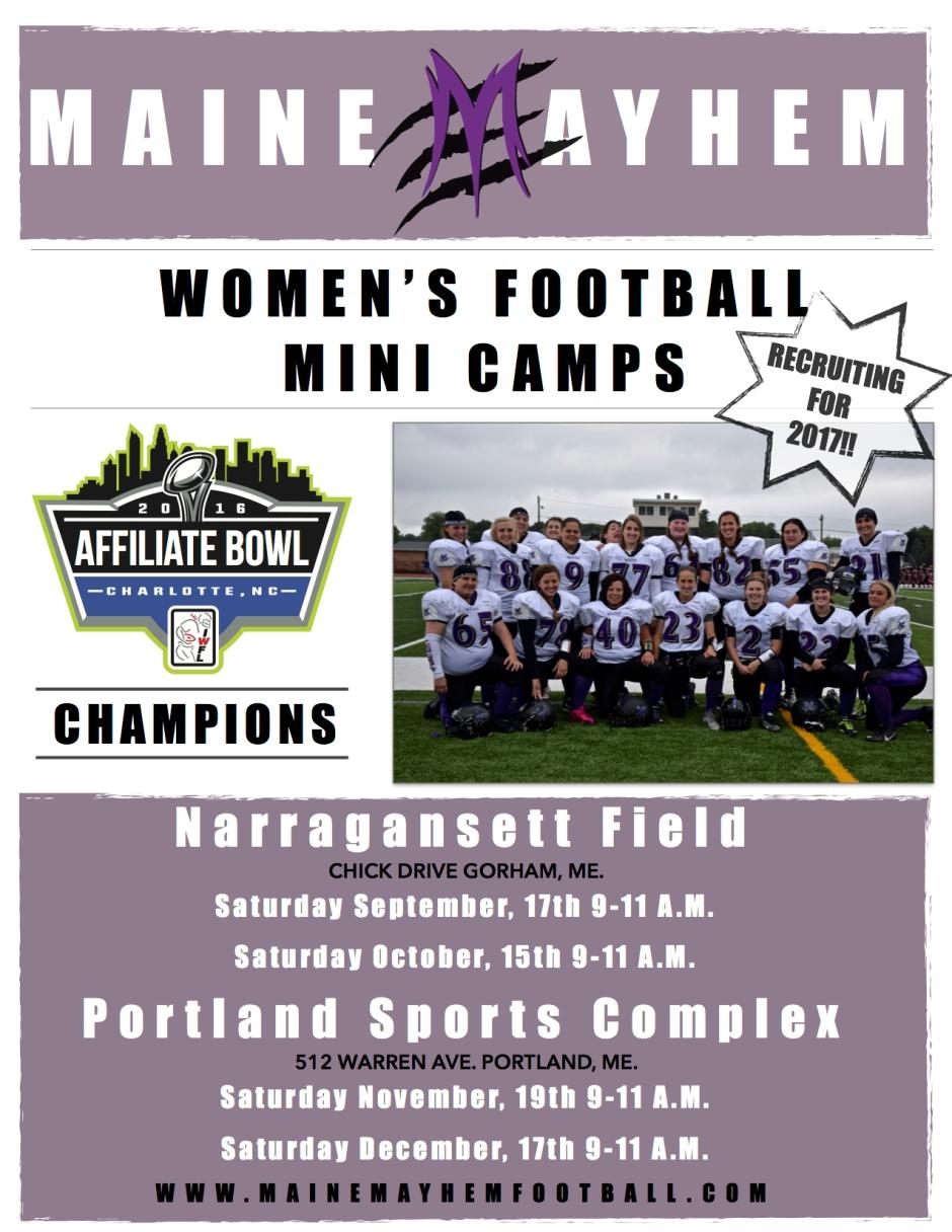 Mini camp flyer